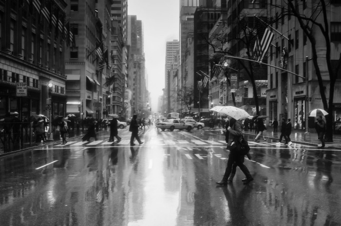 raining on Fifth Avenue