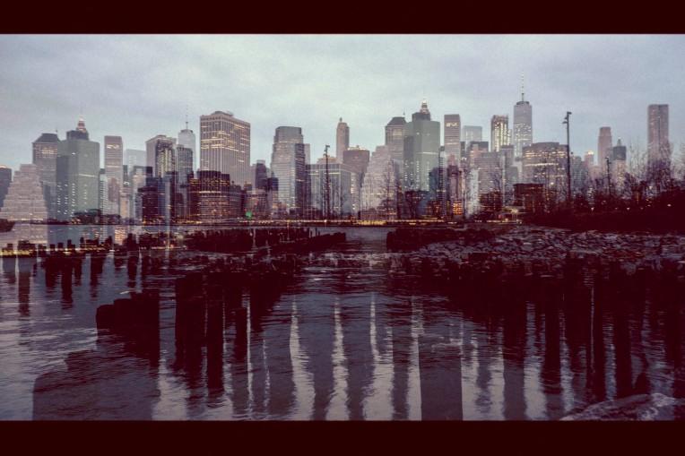 Lower Manhattan Skyline at dusk