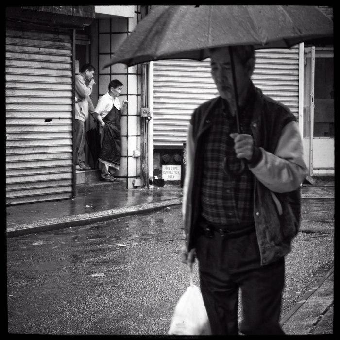 rainy day in Chinatown