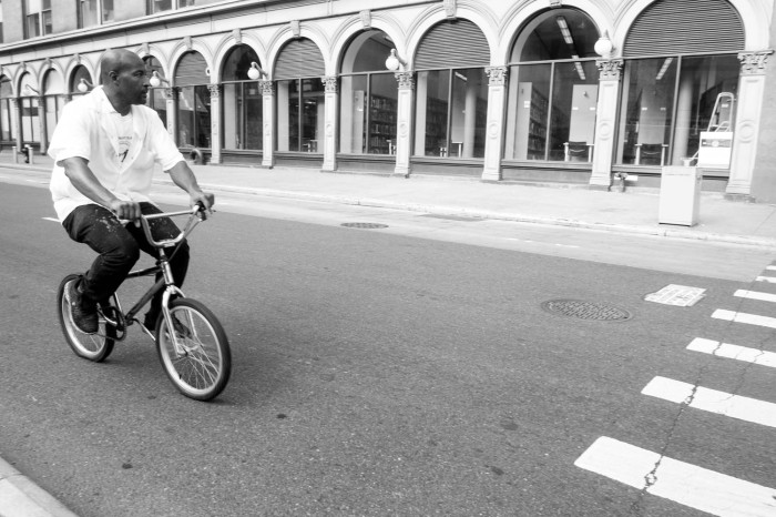 Riding by Cooper Union