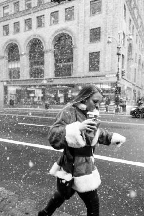Santas in the Snow 1