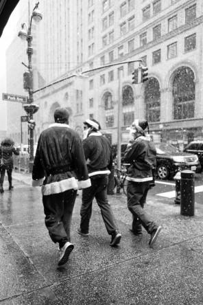 Santas in the Snow 4