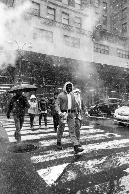 Santas in the Snow 8