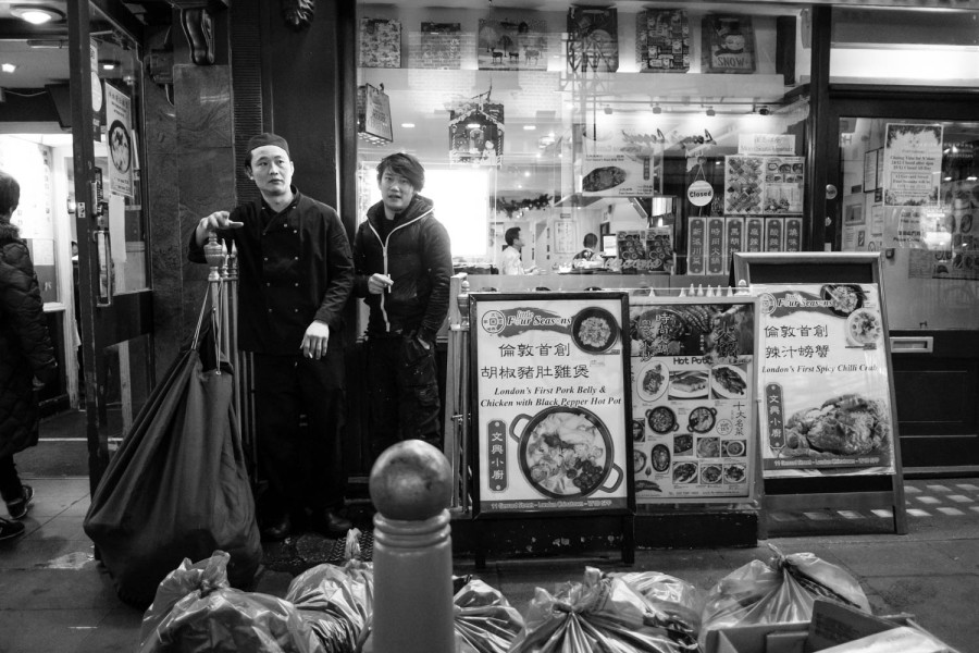 Smoking in Chinatown