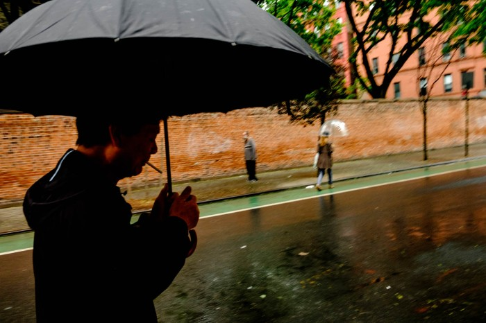 Cigarette in the Rain