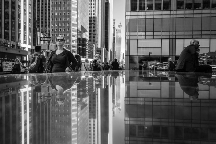 Reflection on Sixth Avenue