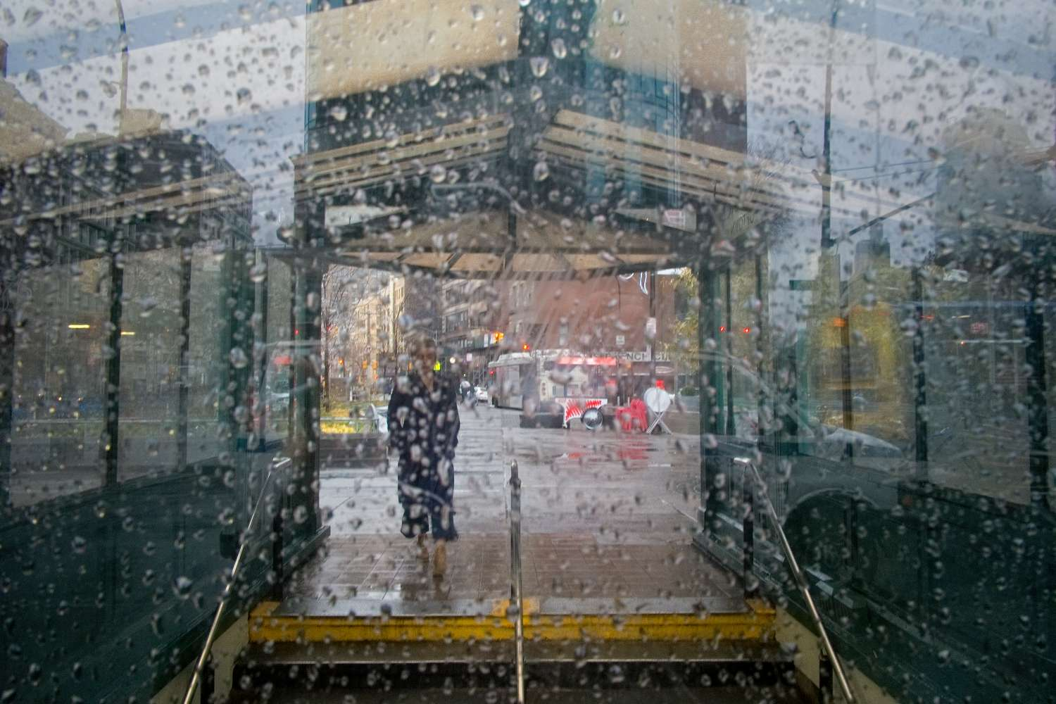 Astor Place in the Rain