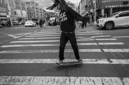 Skating on One Two Five b&w