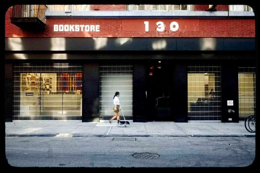 Lower East Side Woman Walking Dog