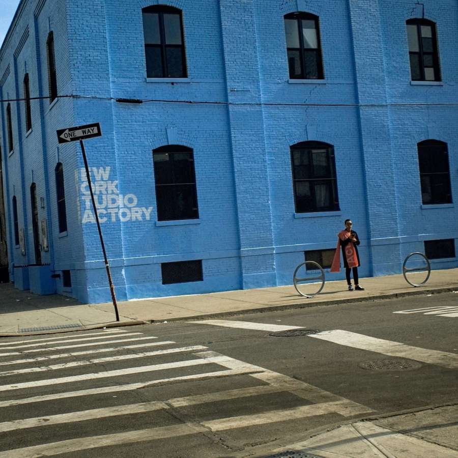 Blue Building in Bushwick